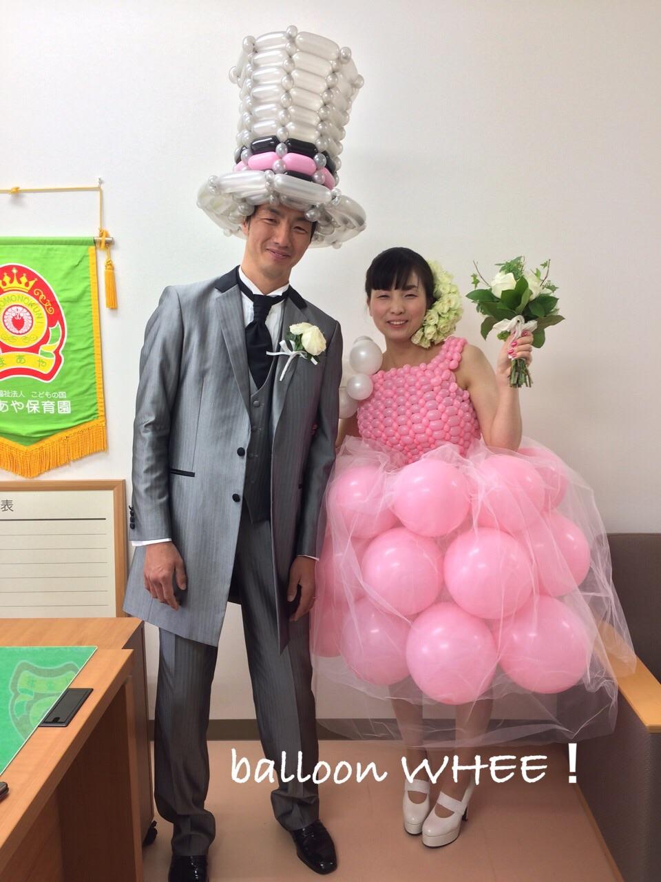二次会でのバルーンドレスです♡